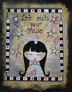 Princess Mixed Media Prints - Let out your muse Print by Johanna Virtanen