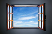 Wood Interior Framed Prints - Let the blue sky in Framed Print by Carlos Caetano