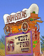 Rawhide Posters - Let the Fun Begin Poster by Diane Wood