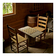 Ladder Back Chairs Photo Metal Prints - Let the Game Begin Metal Print by Michael Hodges