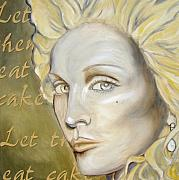 Madonna Painting Metal Prints - Let Them Eat Cake Metal Print by Holly Picano