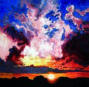 Sunrise Painting Originals - Let There Be Light by John Lautermilch