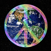 Hippie Prints - Let There Be Peace on Earth Print by Kristin Elmquist