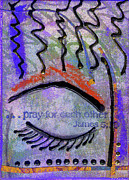Survivor Art Mixed Media Metal Prints - Let Us Pray Metal Print by Angela L Walker