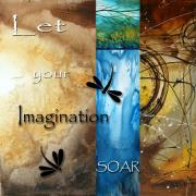 Handmade Paintings - Let Your Imagination Soar by MADART by Megan Duncanson