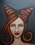 Claudia Tuli Metal Prints - Leticia Metal Print by Claudia Tuli