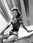 Black Opera Gloves Framed Prints - Lets Be Happy, Vera-ellen, 1957 Framed Print by Everett