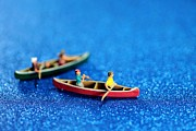 Little Boy Prints - Lets boating together Print by Mingqi Ge