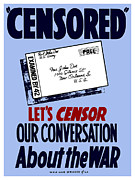Political  Mixed Media Acrylic Prints - Lets Censor Our Conversation About The War Acrylic Print by War Is Hell Store