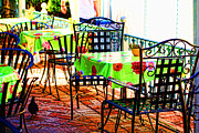 Patio Prints - Lets Do Lunch Print by Cheryl Young