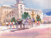 Light Horse Painting Originals - Lets go for a ride by Milind Mulick