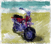 Mini Mixed Media Prints - Lets go for a ride Print by Russell Pierce