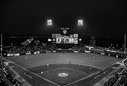 Att Baseball Park Framed Prints - Lets Go Giants BW Framed Print by Rick DeMartile
