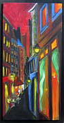 Alleyway Paintings - Lets go This Way by Nathalie Fabri