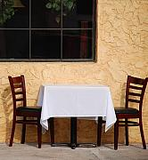 Table Cloth Metal Prints - Lets have lunch together Metal Print by Susanne Van Hulst