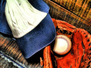 Baseball Cap Prints - Lets Play Ball Print by Jimmy Ostgard