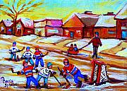 Hockey Prints Framed Prints - Lets Play Hockey Framed Print by Carole Spandau
