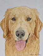 Dog Paintings - Lets Play by Megan Cohen