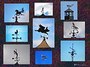 Weather Vane Prints - Lets Talk About the Weather Print by Bill Cannon