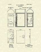 Letter Box Framed Prints - Letter Box 1887 Patent Art Framed Print by Prior Art Design