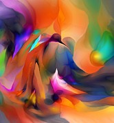 Abstracts Digital Art - Letting Go by David Lane