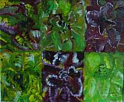 Lettuce Painting Prints - Lettuce Print by Laurie Morgan