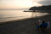 Lansdcape Prints - Levanto Beach Print by Ian Middleton