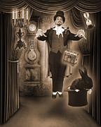 Magician Posters - Levatation Fantastic Poster by Liezel Rubin