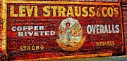 Painted Walls Prints - Levi Strauss Print by Randall Weidner