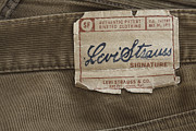 Apparel Framed Prints - Levi Strauss Signature back patch Framed Print by Igor Kislev