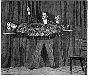 Magic Trick Prints - Levitation Trick, 19th Century Print by