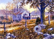 Old Mills Paintings - Levy Deas Grist Mill by Jack Bolin