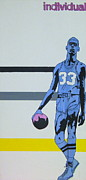 Basketball Mixed Media Prints - Lew Alcinder Print by Justin Farmer