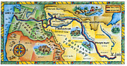 Text Map Framed Prints - Lewis & Clark Expedition Map Framed Print by Jennifer Thermes
