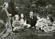 Lewis Carroll Posters - Lewis Carroll, Mrs. George Macdonald & Poster by Photo Researchers
