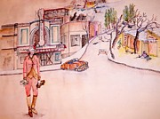 Lewiston Painting Prints - Lewiston as a ghost town Print by Debbi Chan