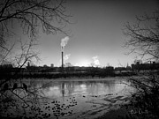 Smoke Metal Prints - Lewiston Before Sunrise Metal Print by Bob Orsillo