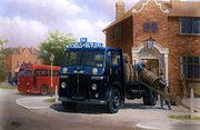 Investment Painting Framed Prints - Leyland dray. Framed Print by Mike  Jeffries