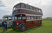 Warrington Prints - Leyland Titan Double Deck Bus Print by David  Hollingworth