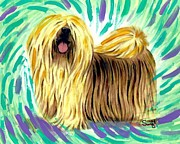 Dog Acrylic Prints - Lhasa Apso Acrylic Print by Char Swift