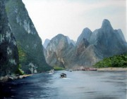 Li River China Print by Marie Dunkley