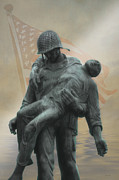Fog Mist Prints - Liberation Monument Print by Tom York