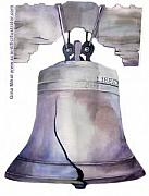 Patriotism Paintings - Liberty Bell by Gina Mikel