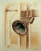 Liberty Drawings - Liberty Bell by Lena Day