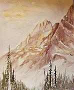 North Cascades Painting Posters - Liberty Bell  Subspire Poster by Sukey Jacobsen
