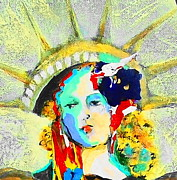 Democracy Painting Originals - Liberty by Claire Sallenger Martin