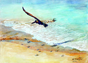 Sea Shore Prints Painting Originals - Liberty by Estela Robles