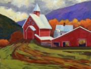 Mary Byrom Prints - Liberty HIll Farm Print by Mary Byrom