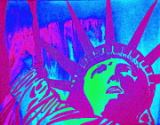 Diana Prickett Prints - Liberty in Color Print by Diana Prickett