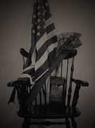 U.s.a. Flag Photos - Liberty or Death by C E Dyer